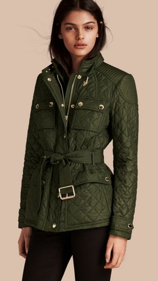 Diamond Quilted Field Jacket with Panel Detail
