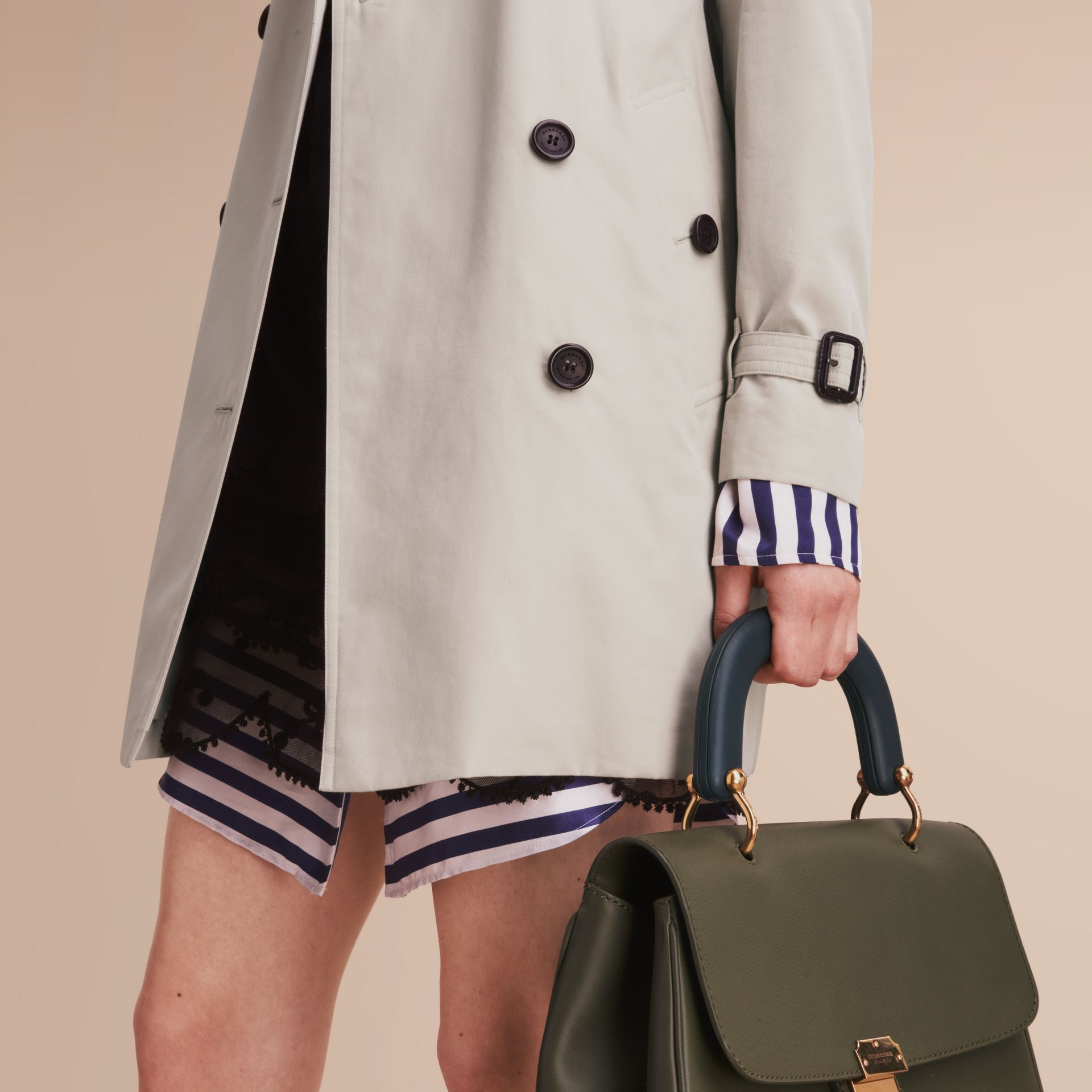 The Kensington – Mid-Length Heritage Trench Coat in Stone - Women | Burberry - gallery image 5