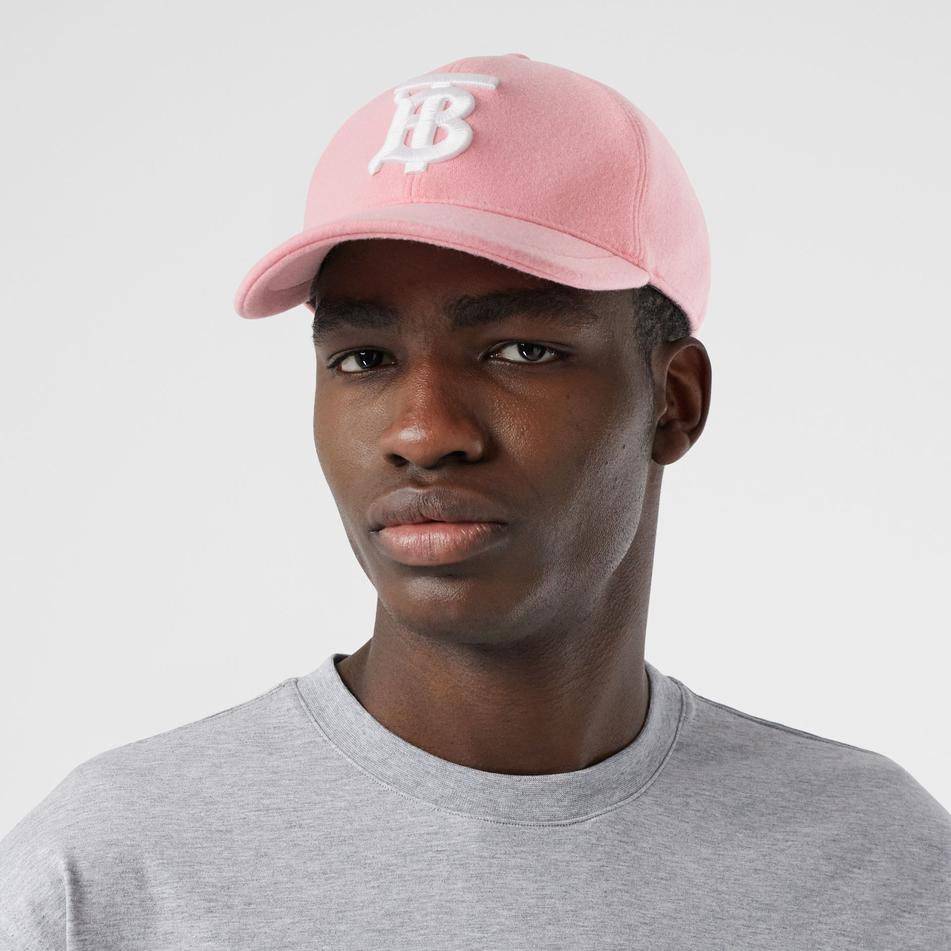 Monogram Motif Jersey Baseball Cap in Pink | Burberry United Kingdom - gallery image 3