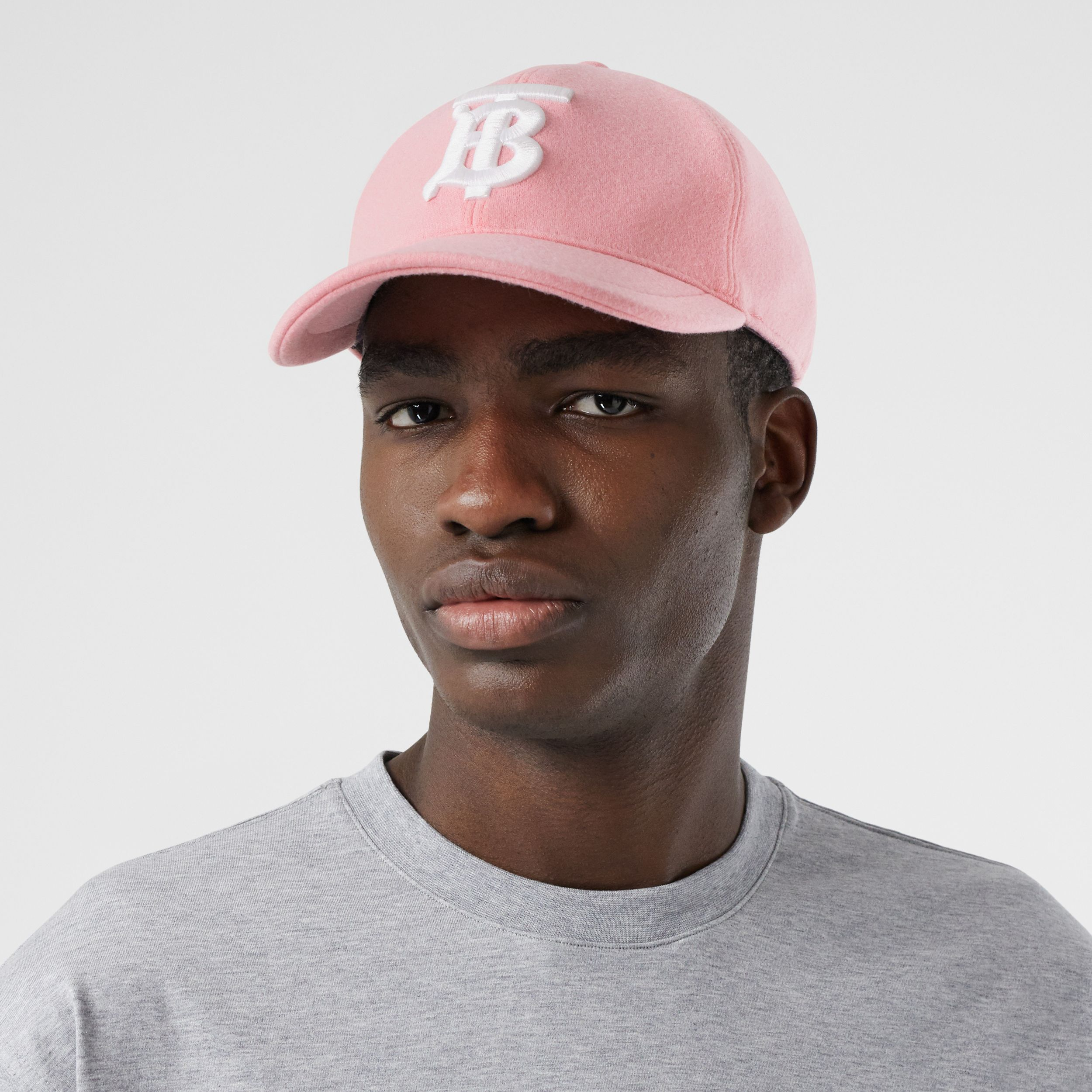 Monogram Motif Jersey Baseball Cap in Pink | Burberry - 4