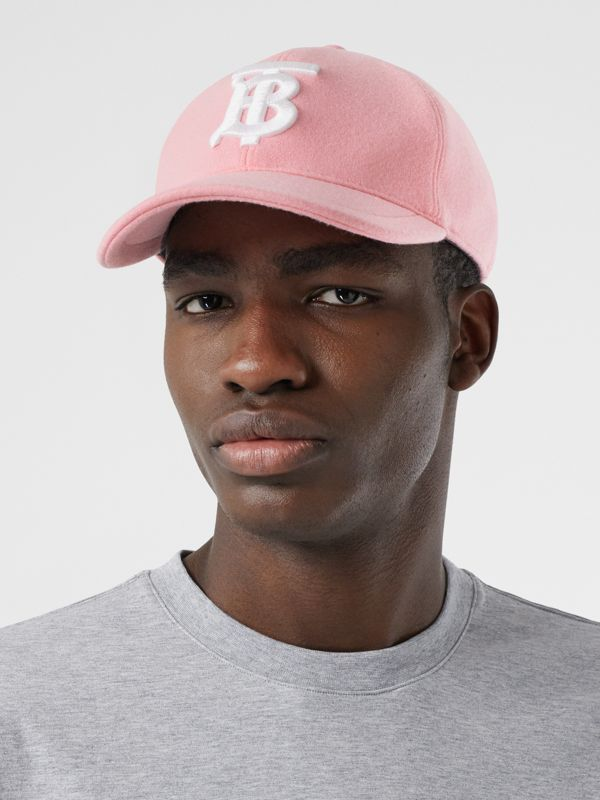 Monogram Motif Jersey Baseball Cap in Pink | Burberry United Kingdom - cell image 3