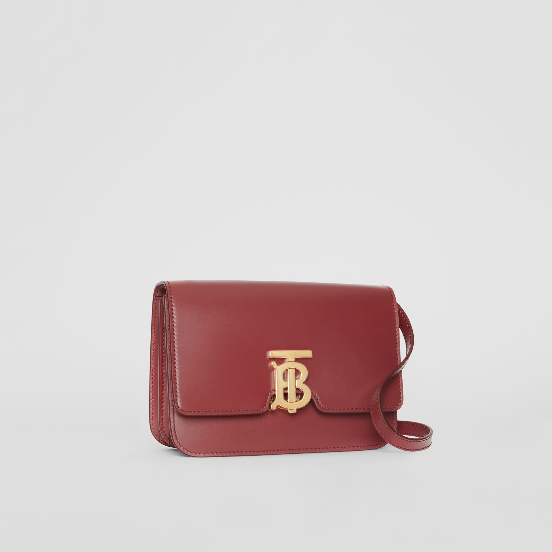 Small Leather TB Bag in Crimson - Women | Burberry - gallery image 4
