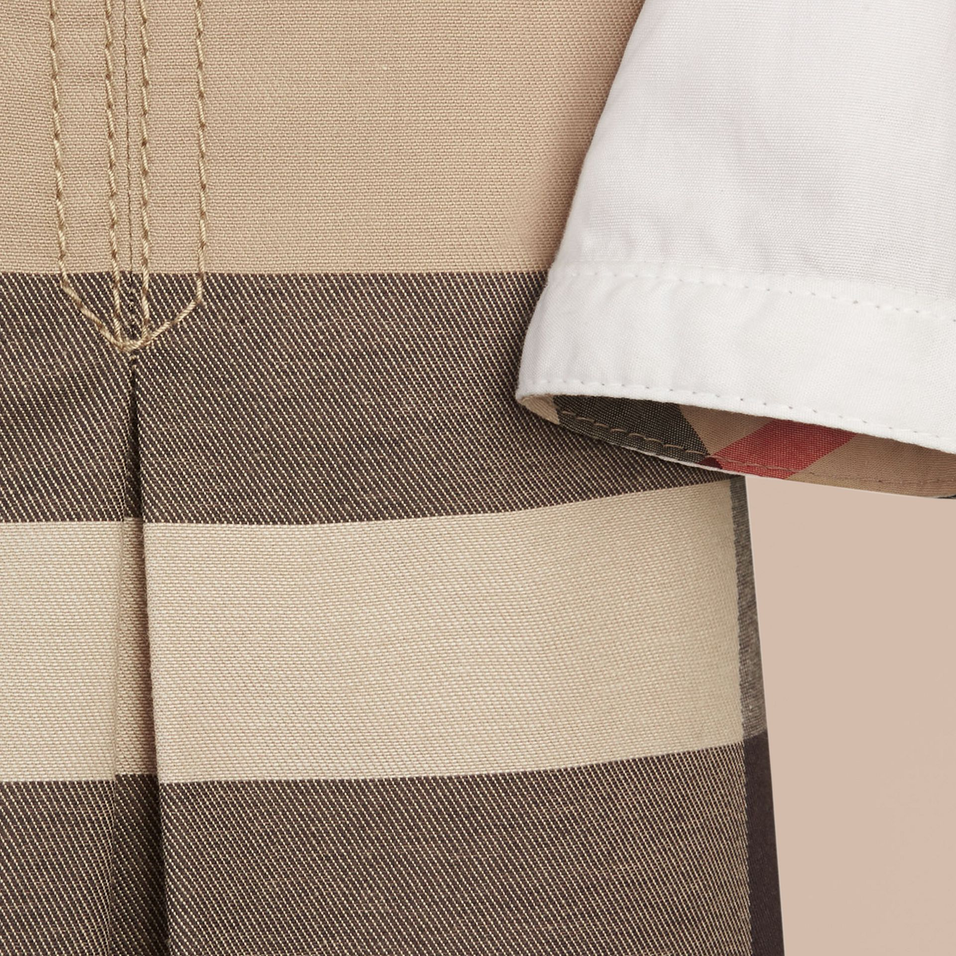 Check Cotton Dress with Inverted Pleats in New Classic - Girl | Burberry - gallery image 2