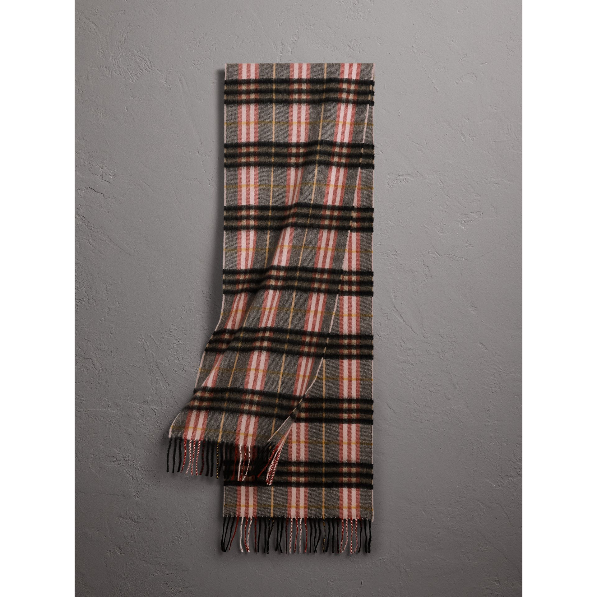 Check Cashmere Scarf in Ash Rose | Burberry Australia - gallery image 0