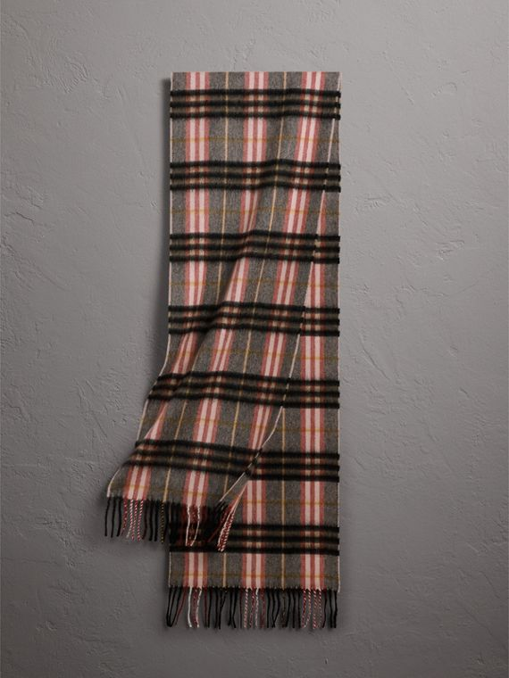 Check Cashmere Scarf in Ash Rose | Burberry