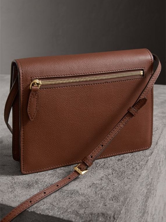 Small Leather and House Check Crossbody Bag in Tan - Women | Burberry Hong Kong - cell image 2