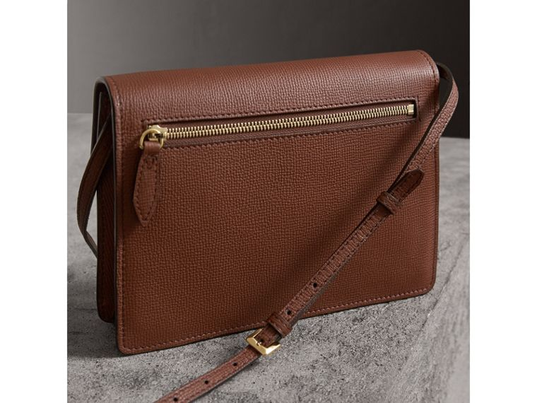 Small Leather and House Check Crossbody Bag in Tan - Women | Burberry - cell image 4
