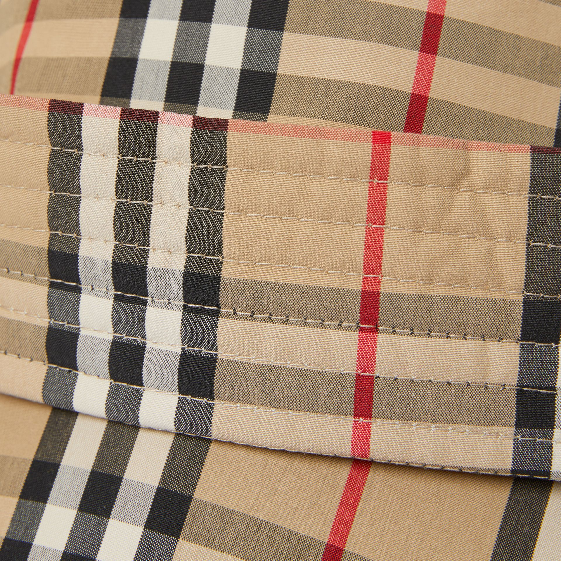 Vintage Check Rain Hat in Archive Beige | Burberry United Kingdom - gallery image 1