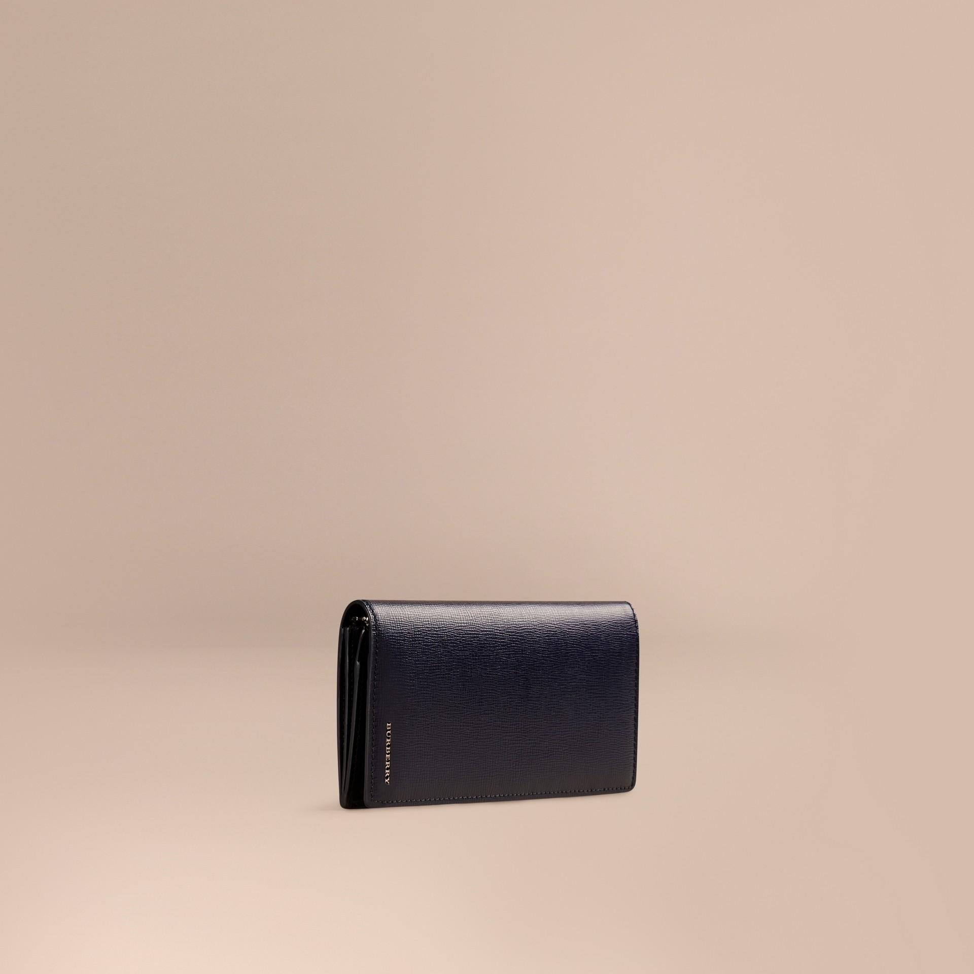 Dark navy London Leather Continental Wallet Dark Navy - gallery image 1