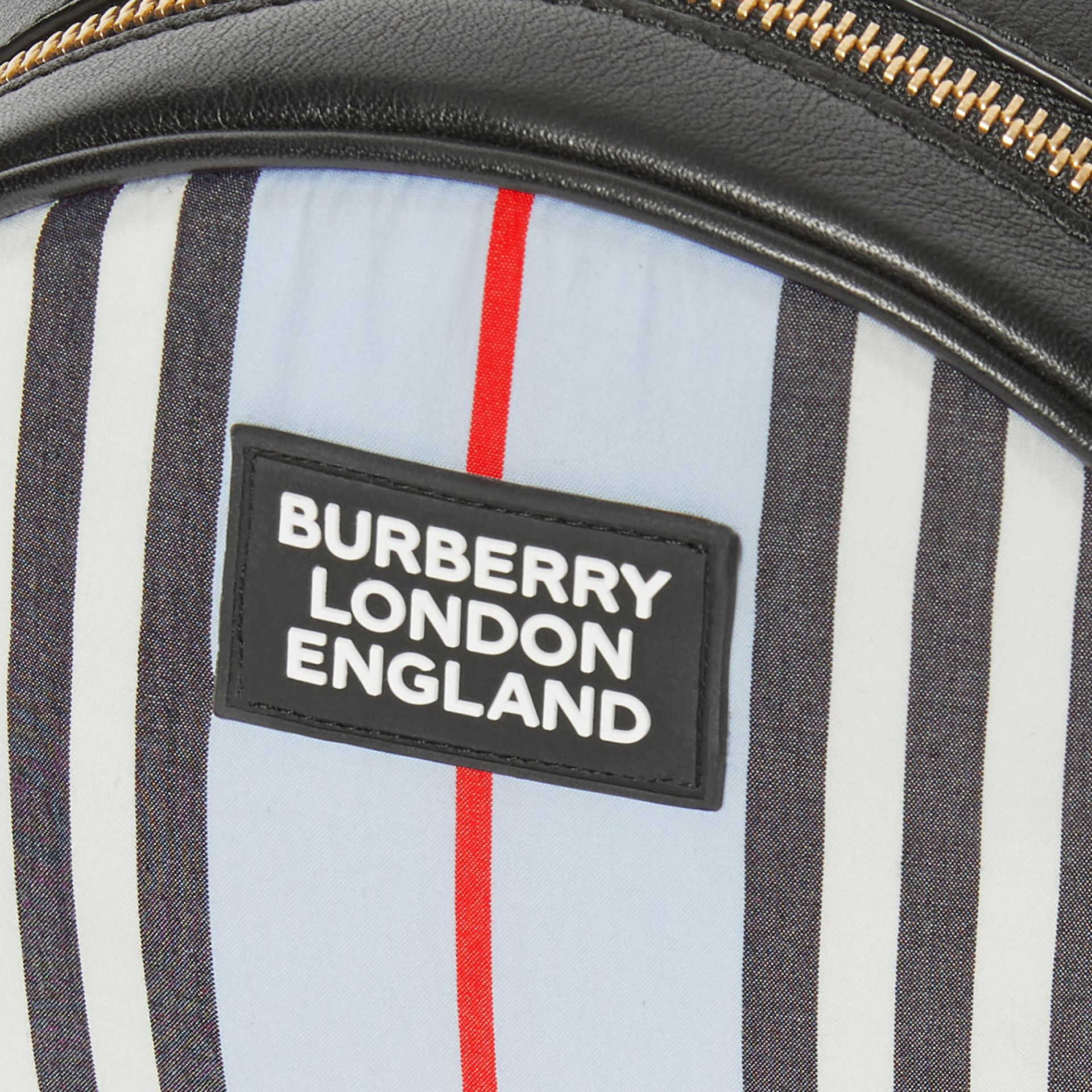Icon Stripe Nylon Crossbody Bag in Pale Blue - Children | Burberry United States - gallery image 1