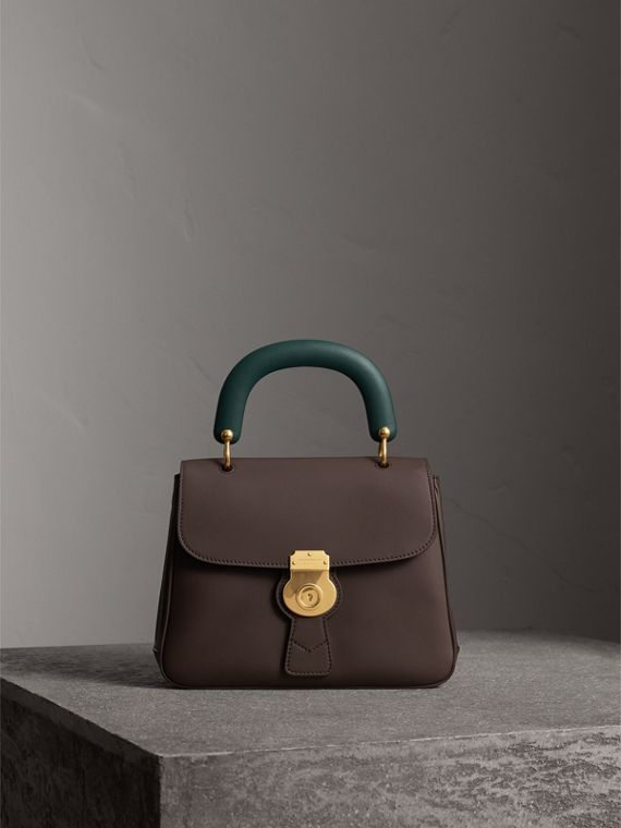 The Medium DK88 Top Handle Bag in Dark Chocolate