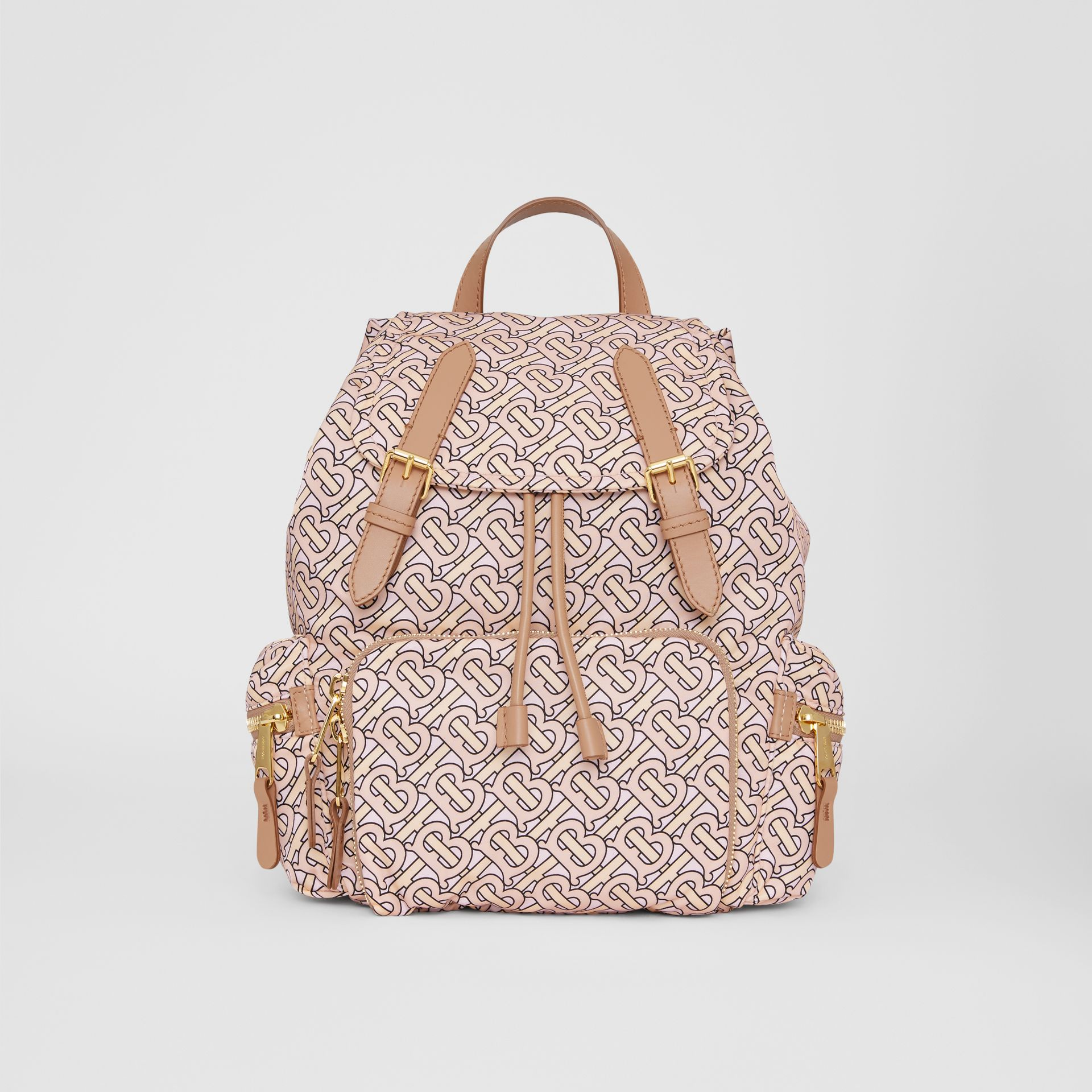 The Medium Rucksack in Monogram Print Nylon in Blush - Women | Burberry Australia - gallery image 0