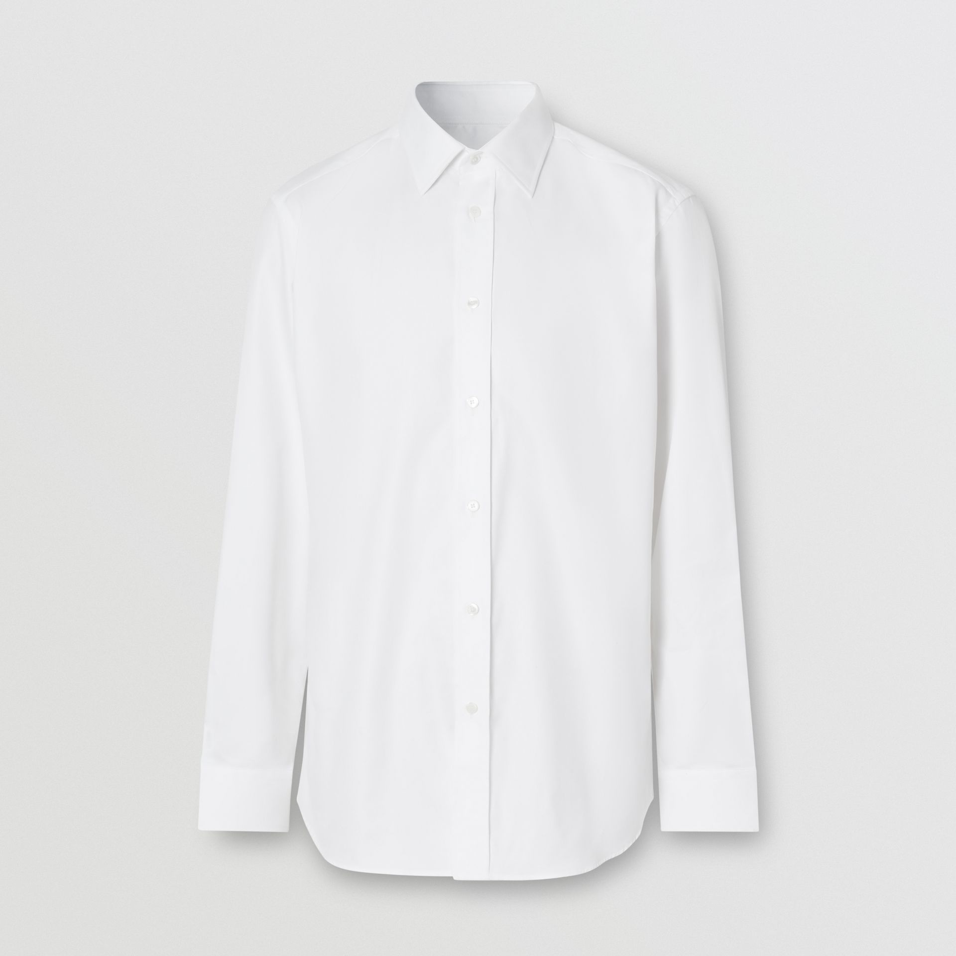 Classic Fit Monogram Motif Cotton Oxford Shirt in White - Men | Burberry Singapore - gallery image 3