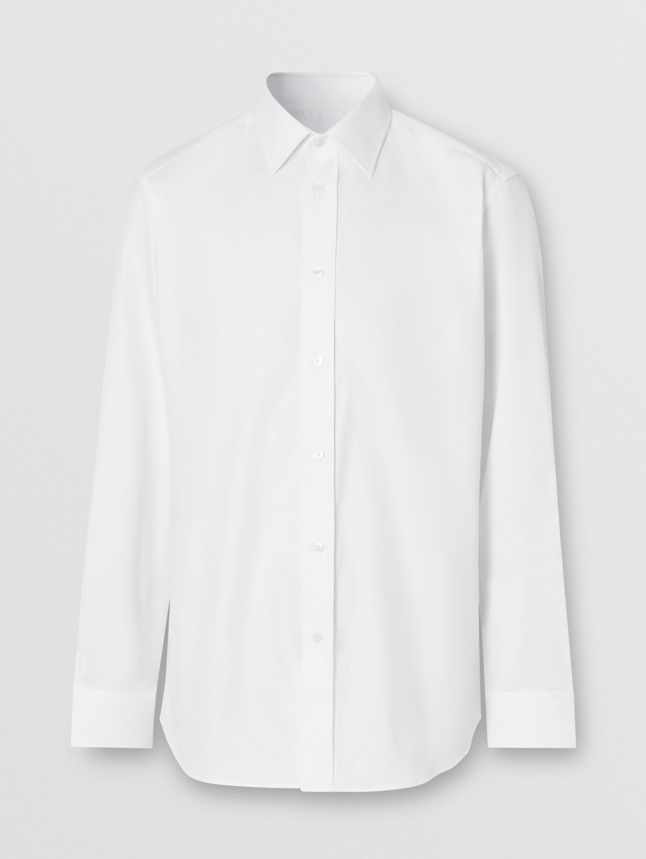 Classic Fit Monogram Motif Cotton Oxford Shirt (White)
