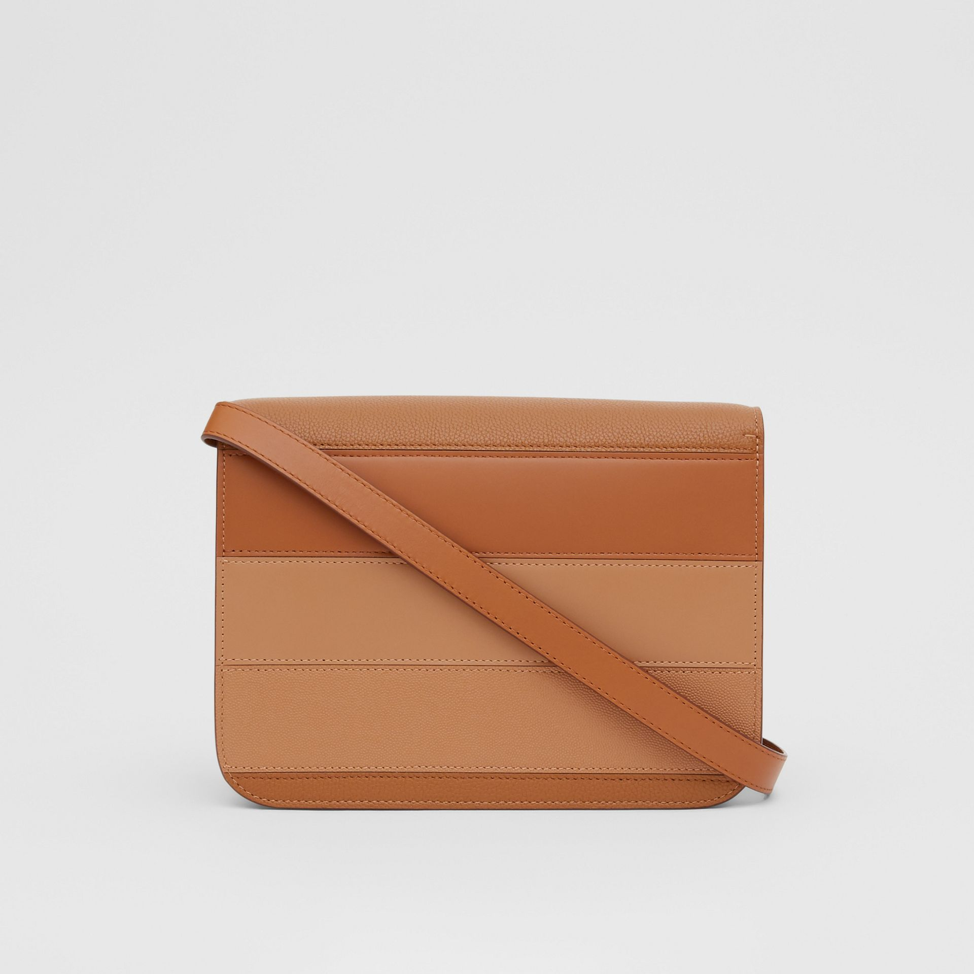 Medium Panelled Leather TB Bag in Maple - Women | Burberry - gallery image 5