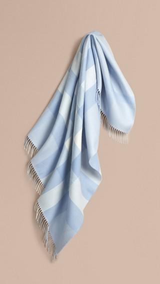 Check Merino Wool Baby Blanket