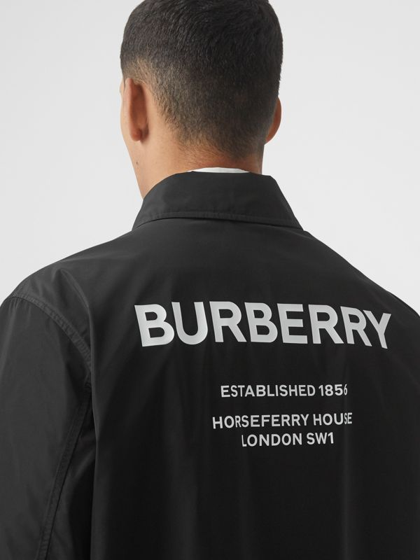 Detachable Hood Shape-memory Taffeta Car Coat in Black - Men | Burberry - cell image 2