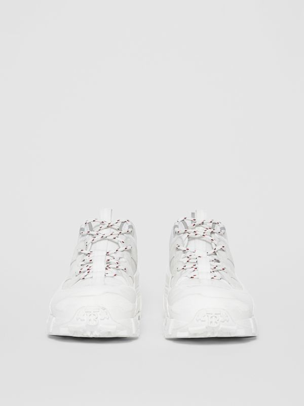 Nylon and Suede Arthur Sneakers in Off White | Burberry - cell image 3