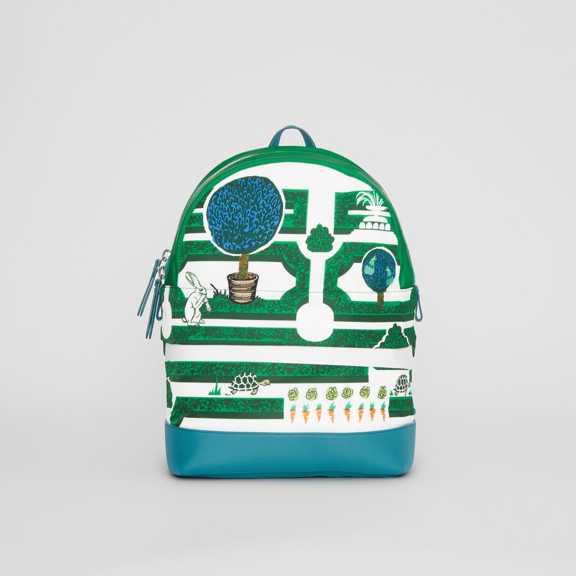 Hedge Maze Print Backpack in Bright Pigment Green - Children | Burberry - gallery image 0
