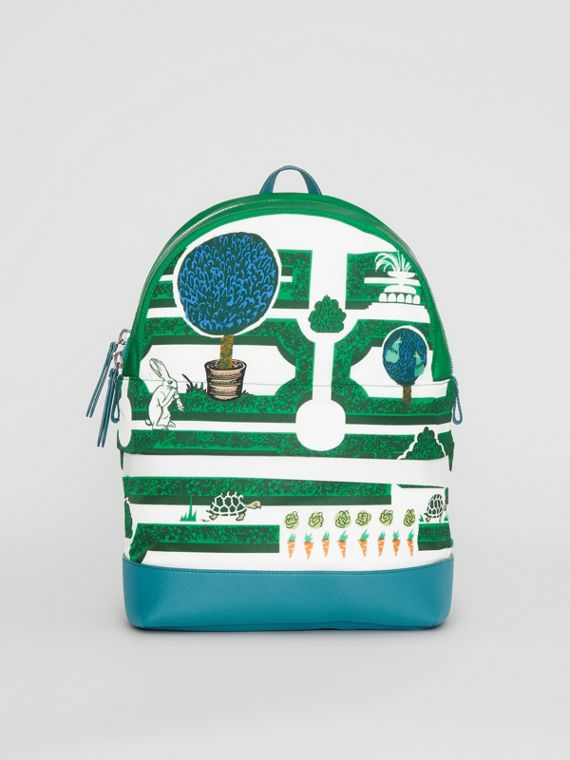 Hedge Maze Print Backpack in Bright Pigment Green