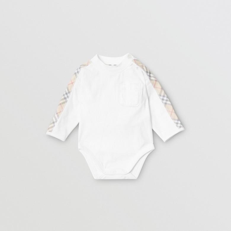 Burberry - Coffret cadeau trois pièces en coton check pour bébé - 1