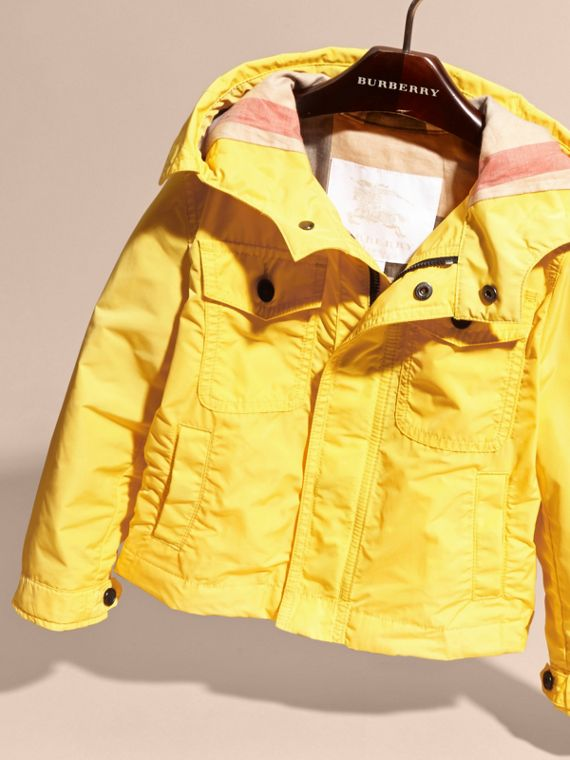 Hooded Field Jacket in Bright Yellow - cell image 2