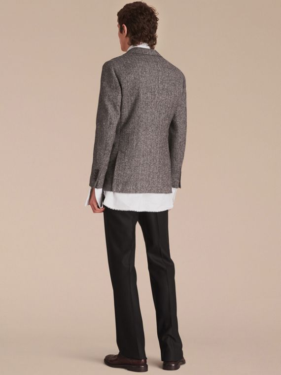 Slim Fit Herringbone Wool Tailored Jacket - cell image 2