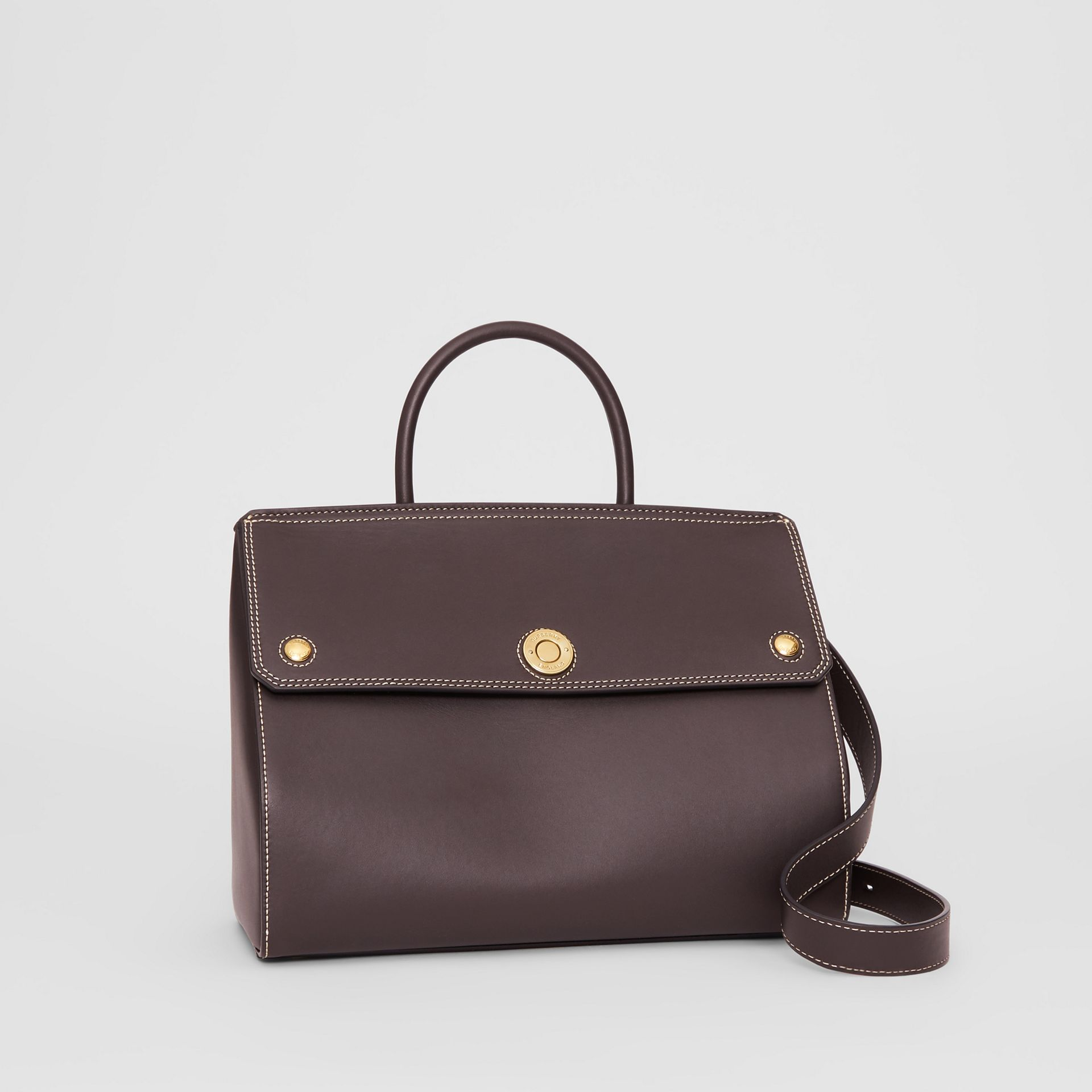 Small Leather Elizabeth Bag in Coffee - Women | Burberry - gallery image 4