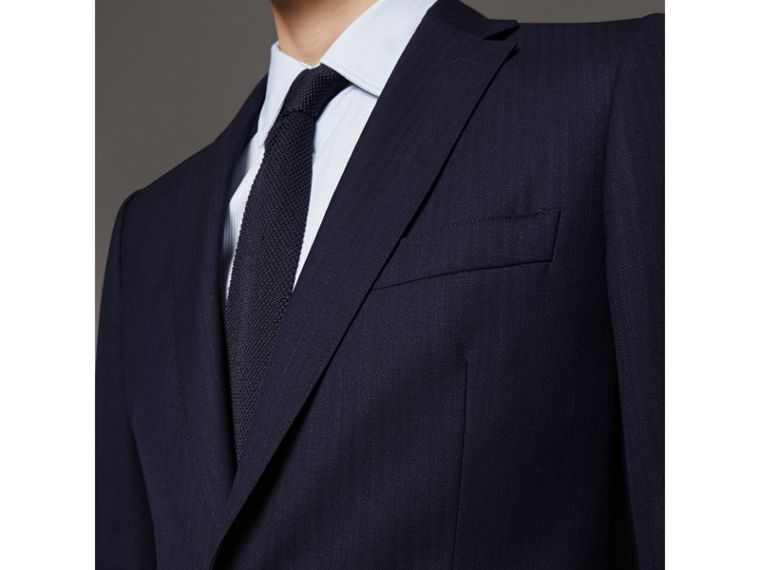 Soho Fit Herringbone Wool Suit in Navy - Men | Burberry United States - cell image 1