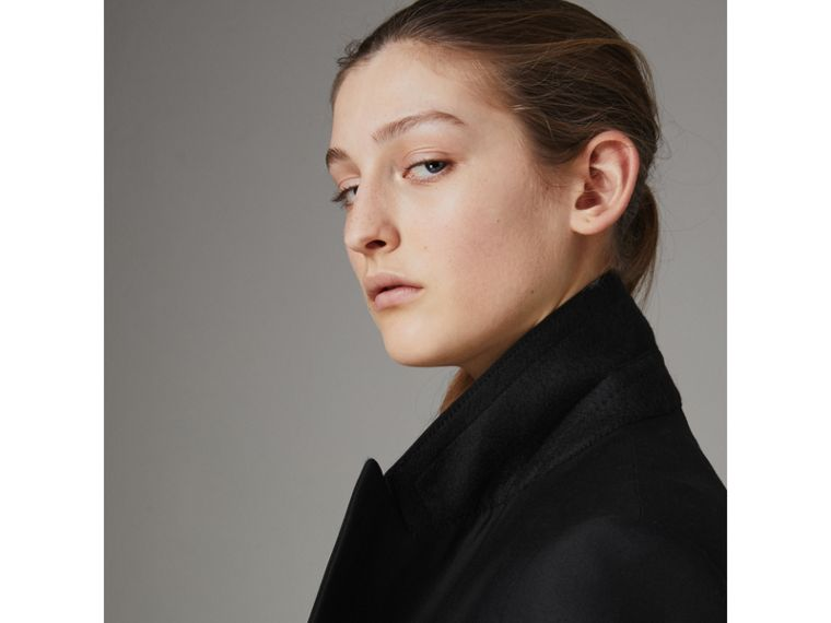 Wool Mohair Double-breasted Evening Jacket in Black - Women | Burberry - cell image 4
