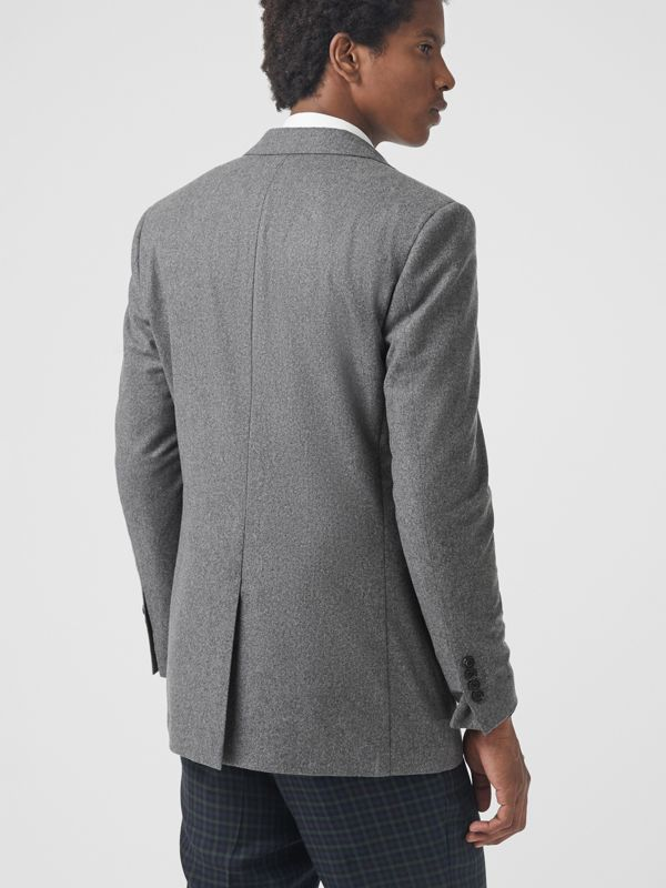 Classic Fit Wool Cashmere Tailored Jacket in Mid Grey Melange - Men | Burberry - cell image 2