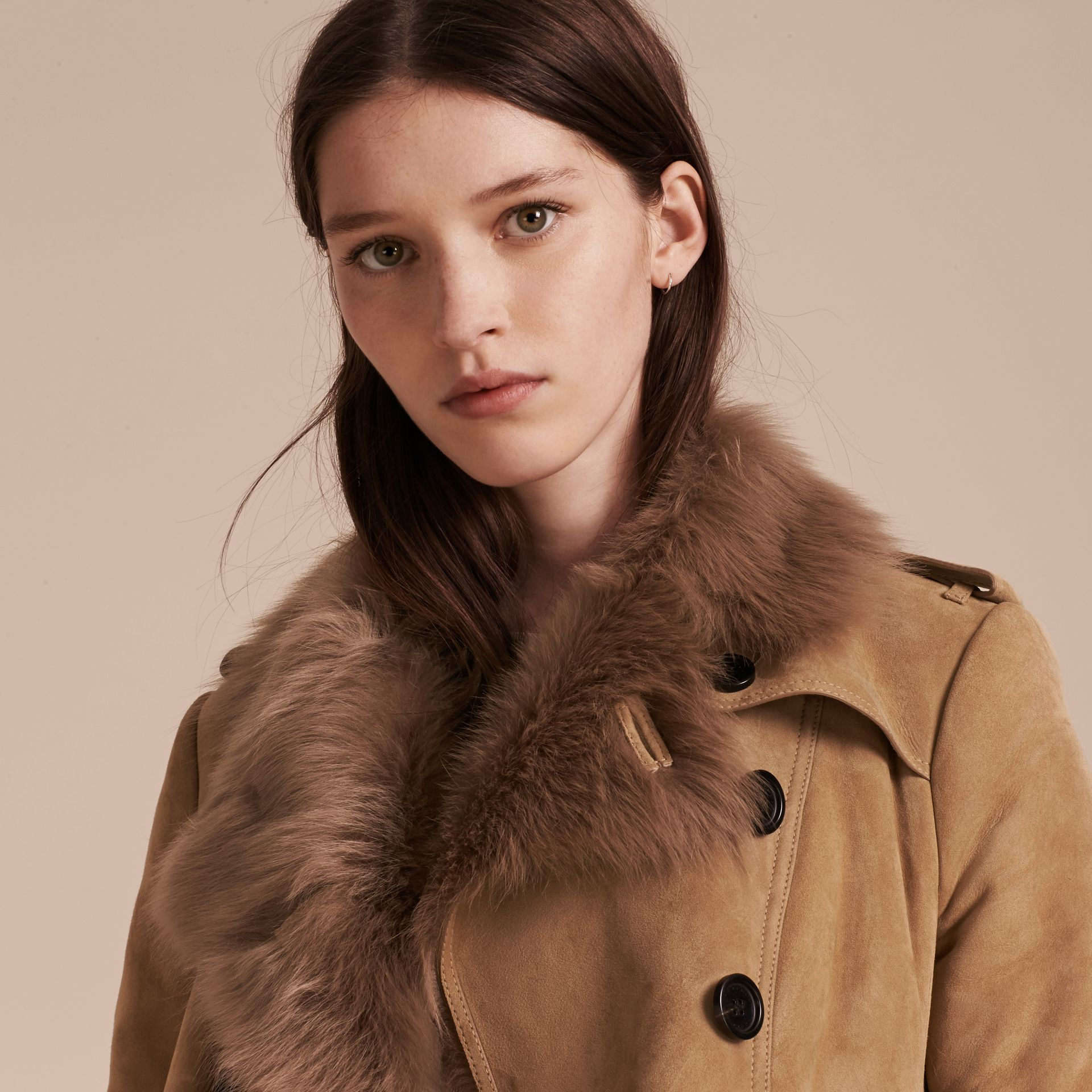 Shearling Trench Coat - gallery image 5