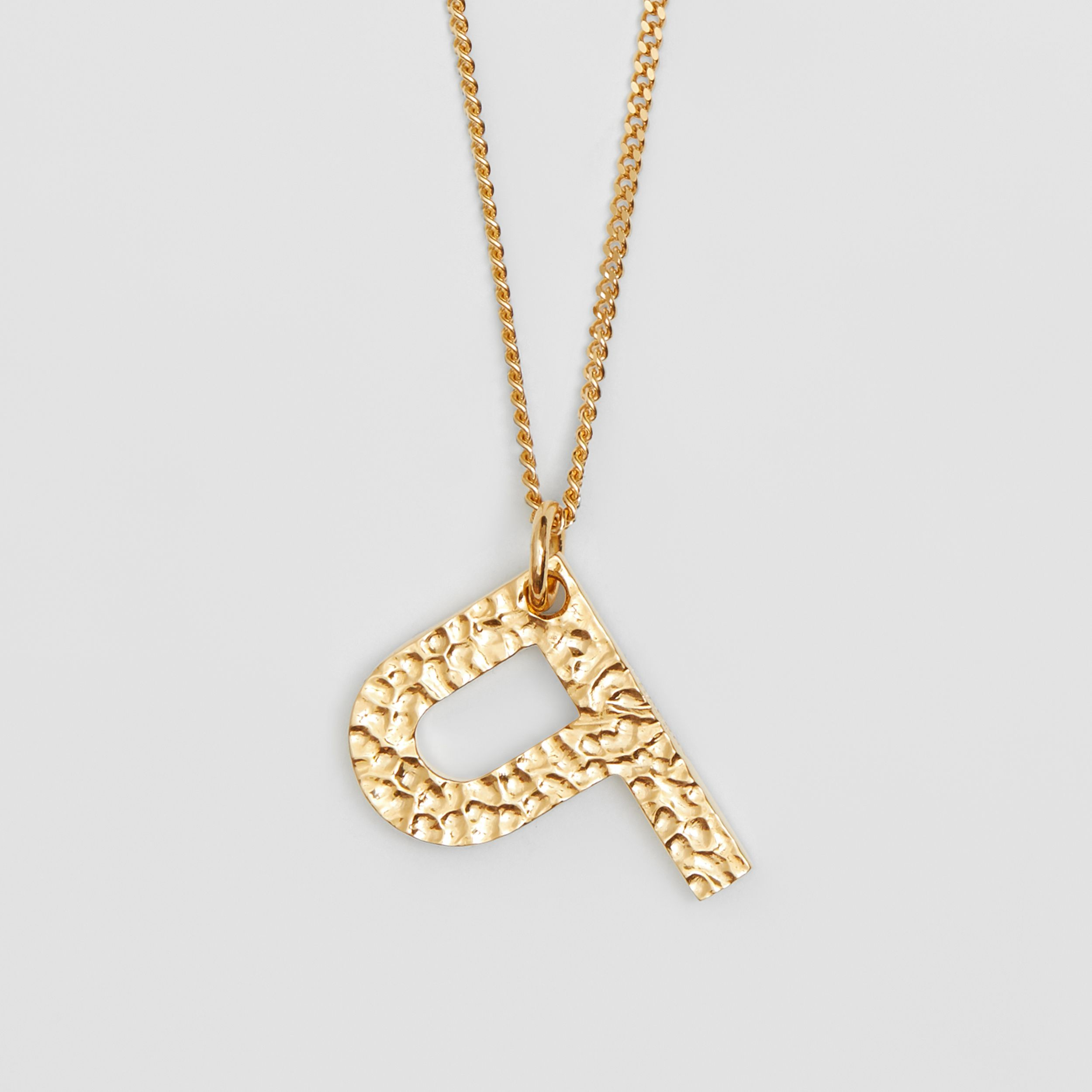 'P' Alphabet Charm Gold-plated Necklace in Light - Women | Burberry - 3