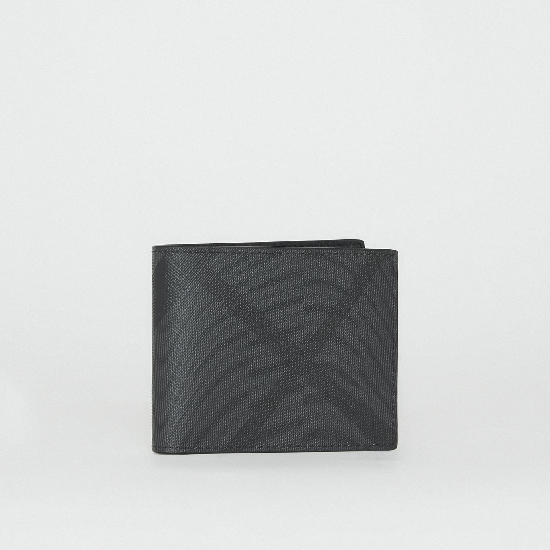 London Check Bifold Wallet in Charcoal/black - Men | Burberry United Kingdom - gallery image 4