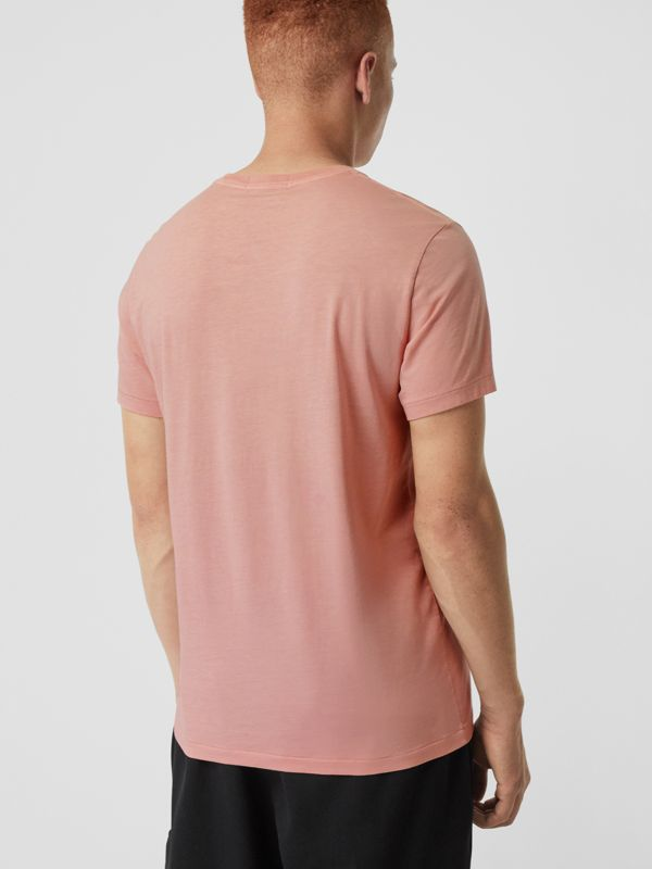 Cotton T-shirt in Chalk Pink - Men | Burberry Australia - cell image 2