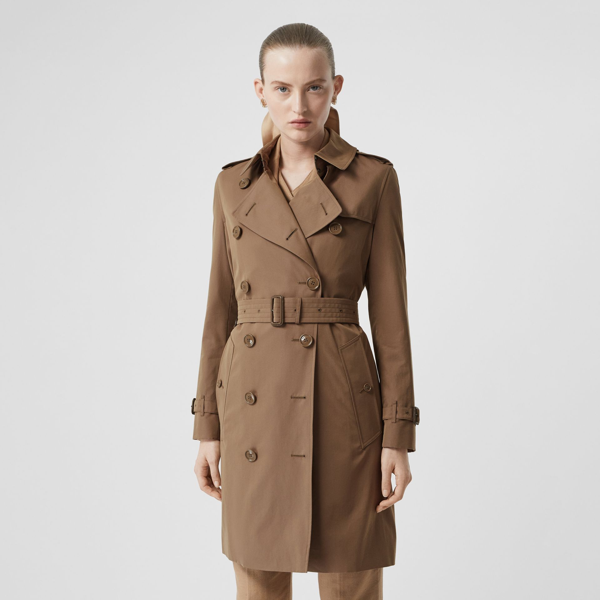 Tropical Gabardine Trench Coat in Taupe - Women | Burberry - gallery image 6
