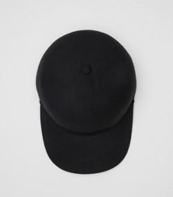 Felted Wool Baseball Cap in Black 8b1a2b8138f
