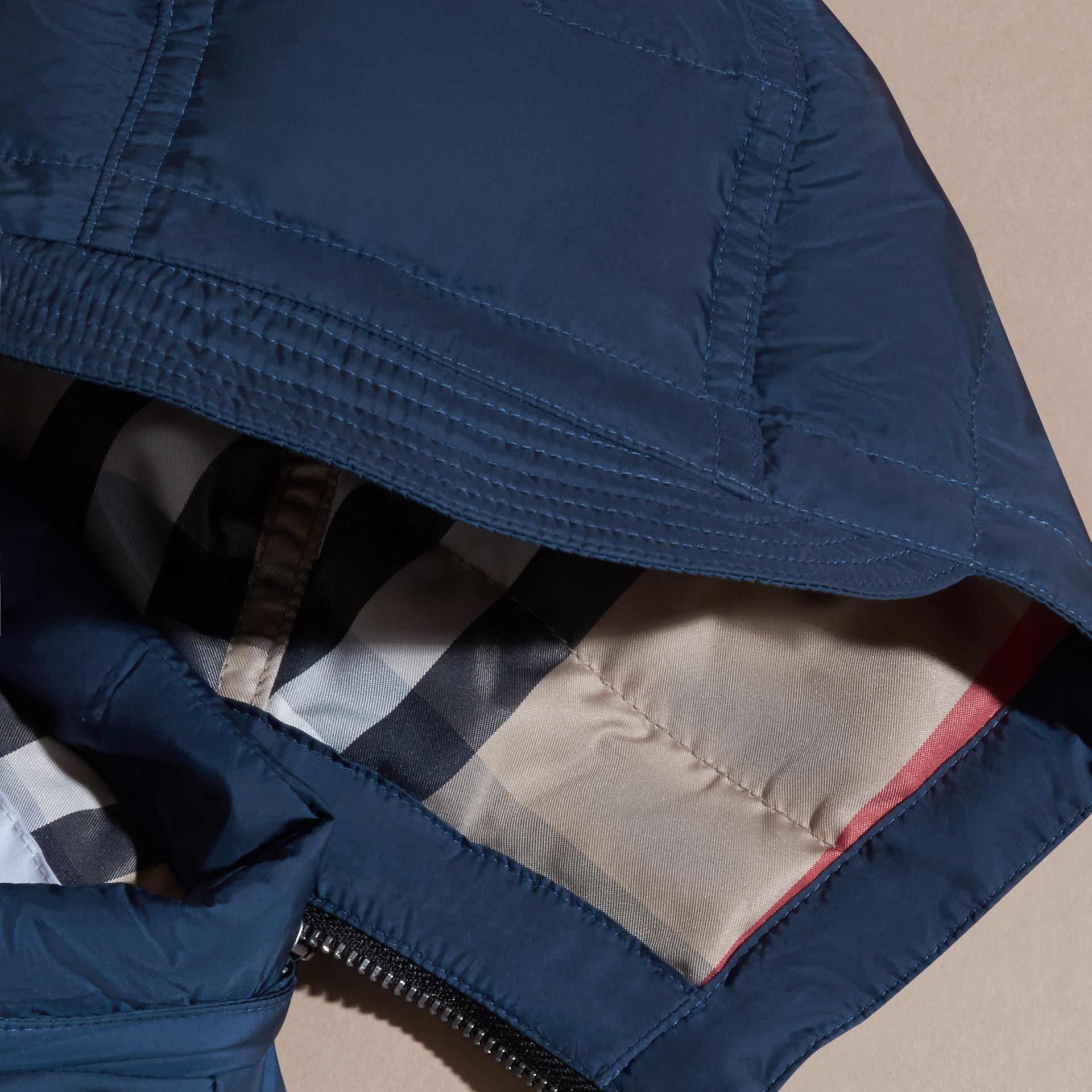 Down-filled Hooded Gilet in Ink Blue - Boy | Burberry - gallery image 1