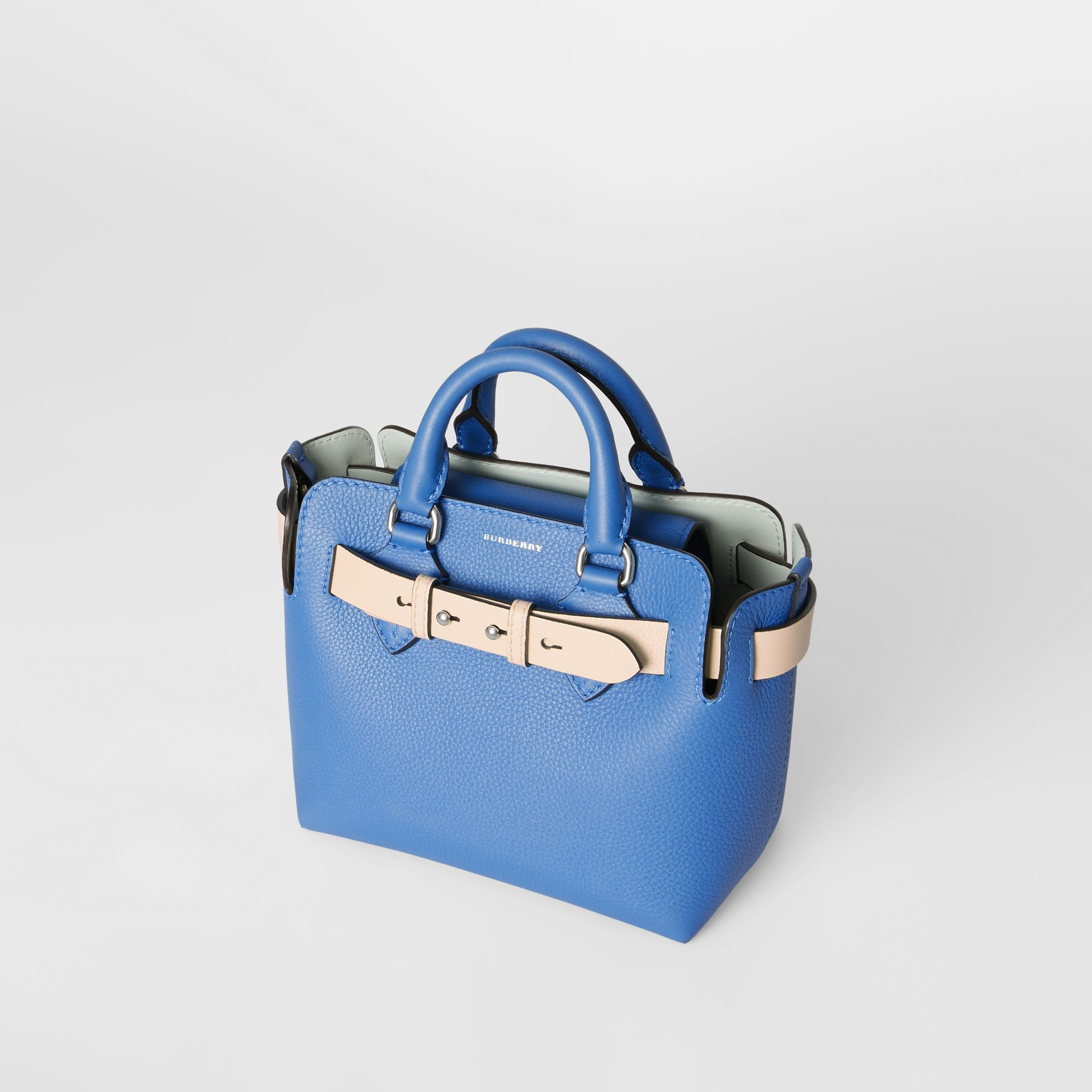 The Mini Leather Belt Bag in Hydrangea Blue - Women | Burberry - gallery image 4