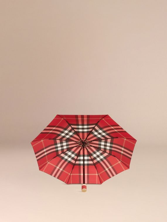 Check Folding Umbrella in Parade Red - cell image 2