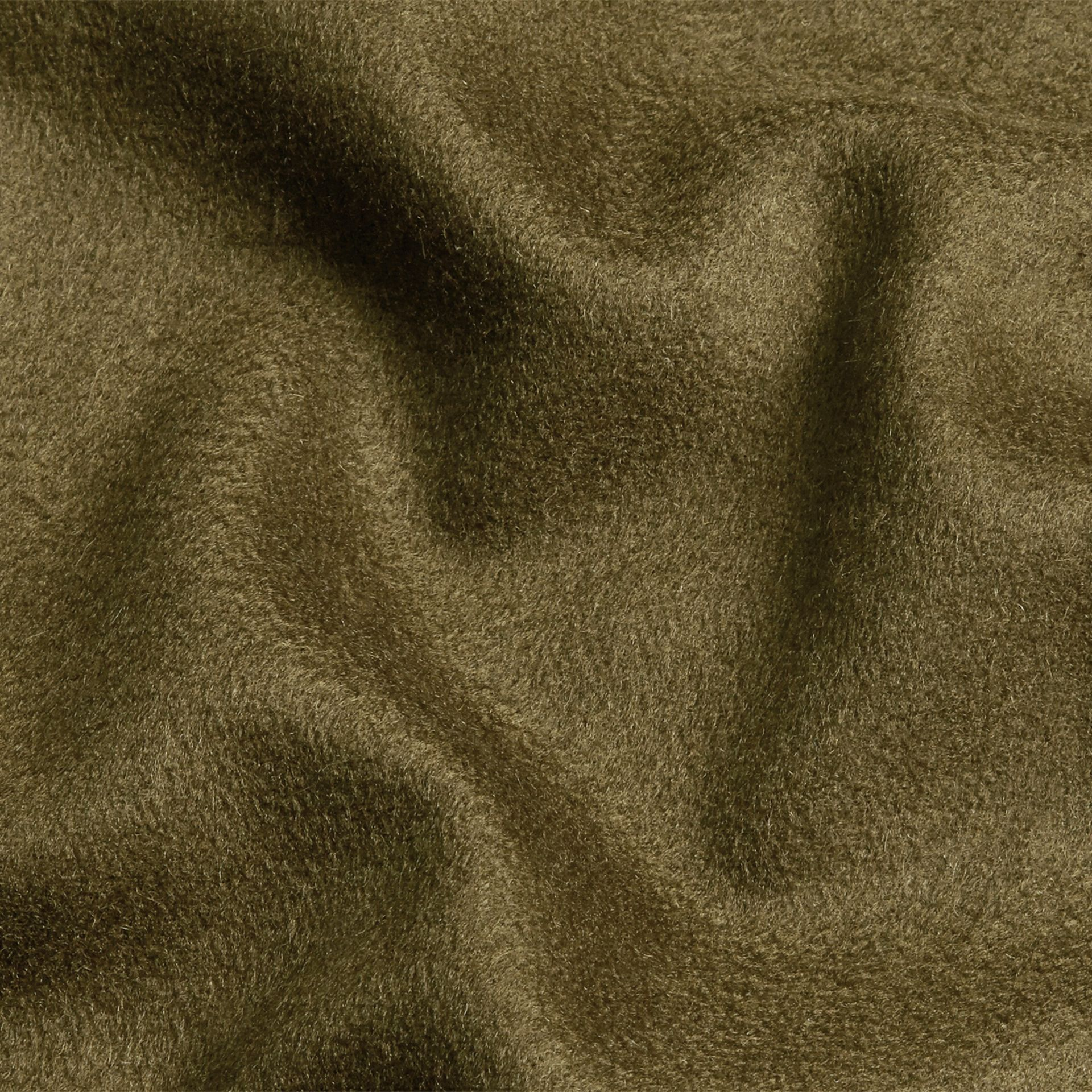 The Classic Cashmere Scarf in Olive Green - gallery image 5
