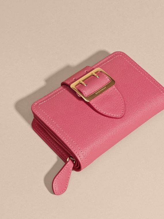 Pink azalea Buckle Detail Grainy Leather Wallet Pink Azalea - cell image 2
