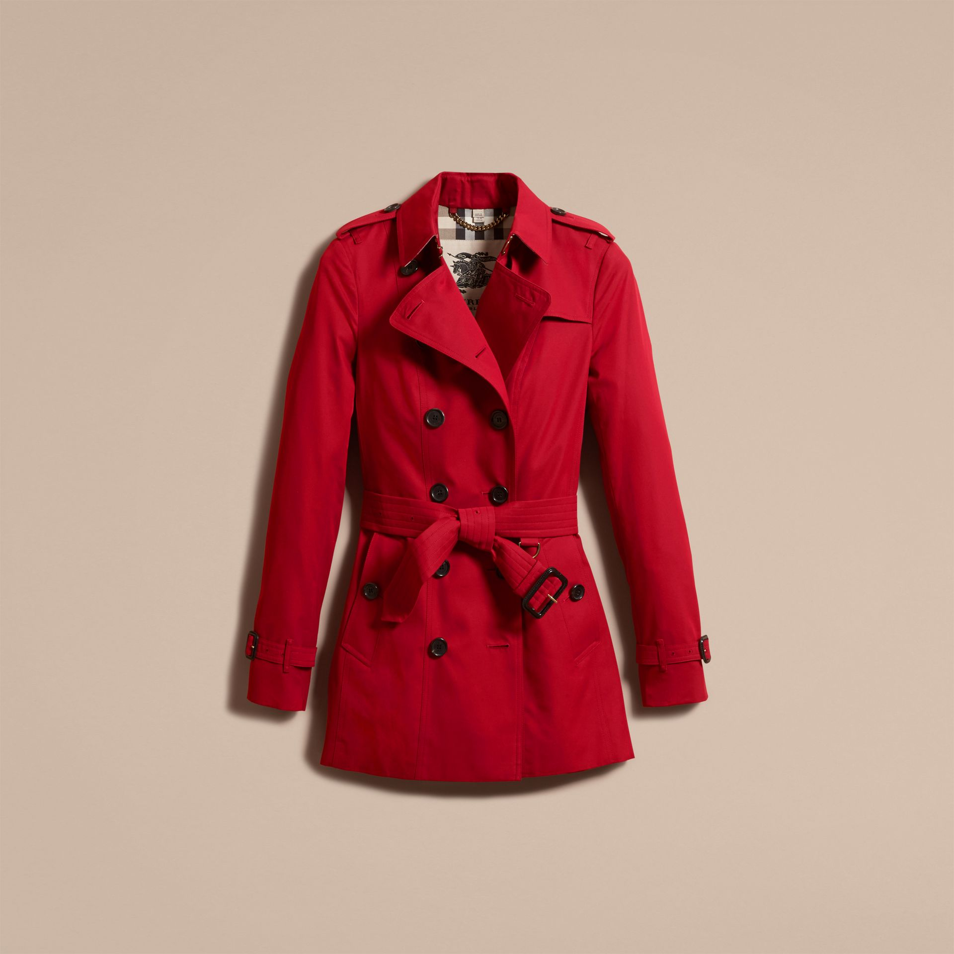 Parade red The Sandringham – Short Heritage Trench Coat Parade Red - gallery image 4