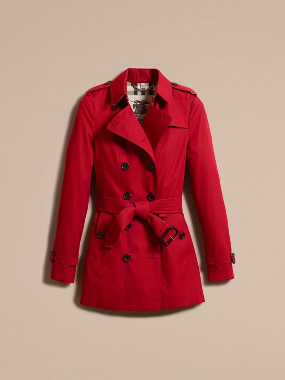 Parade red The Sandringham – Short Heritage Trench Coat Parade Red - cell image 3