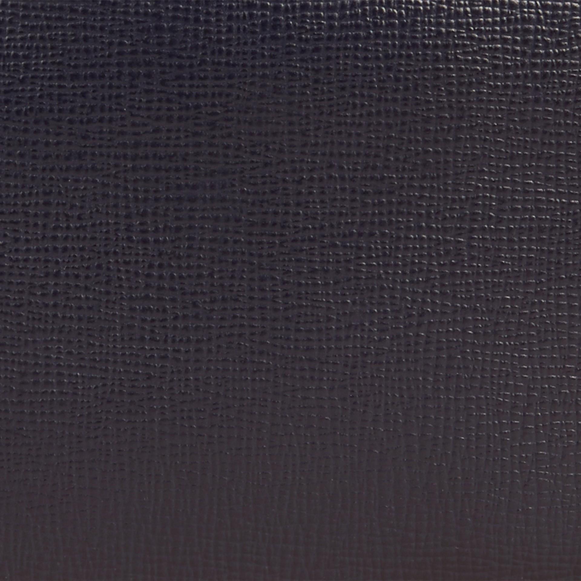 Dark navy London Leather Folding Wallet Dark Navy - gallery image 2