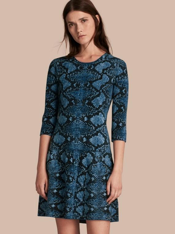 Python Jacquard Merino Wool Dress