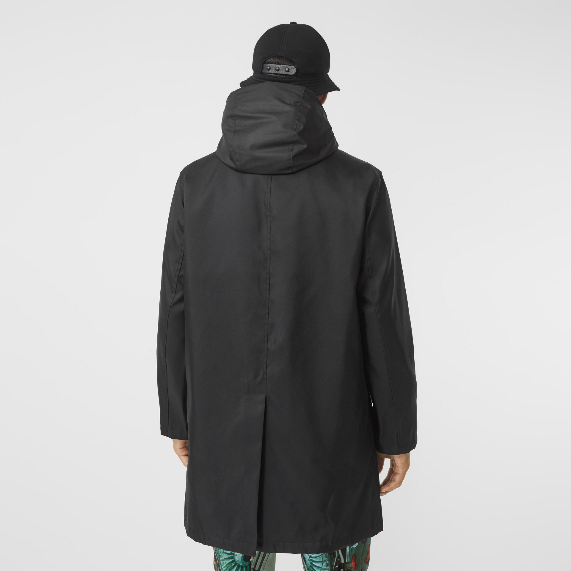 Nylon Car Coat with Detachable Hooded Warmer in Black - Men | Burberry United Kingdom - gallery image 2