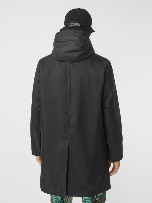 Nylon Car Coat with Detachable Hooded Warmer in Black - Men | Burberry United Kingdom - cell image 2