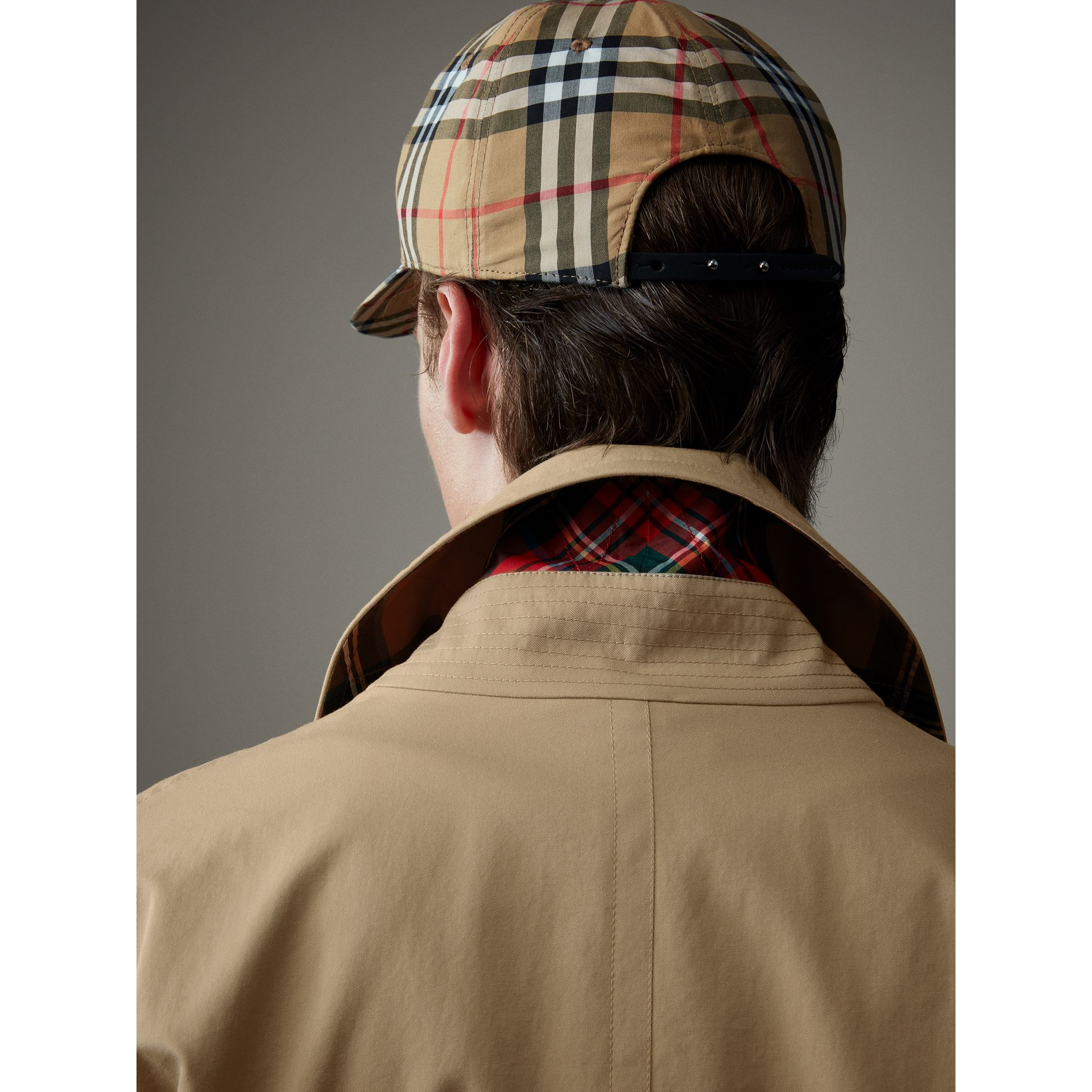 Tropical Gabardine Harrington Jacket in Honey - Men | Burberry United Kingdom - gallery image 4