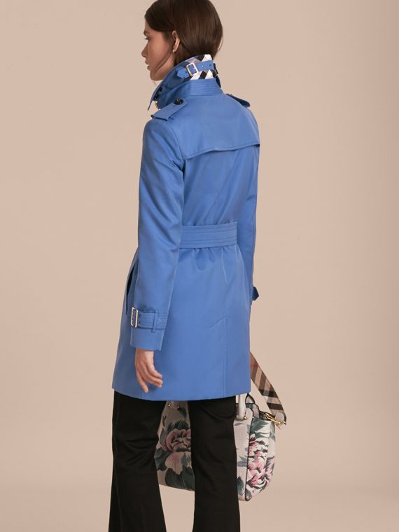 Bright steel blue Single-breasted Trench Coat with Metal Buckle Detail Bright Steel Blue - cell image 2